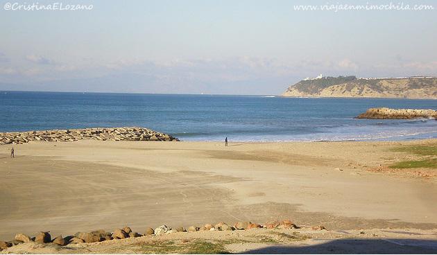 Playa de Tánger (Marruecos, África)