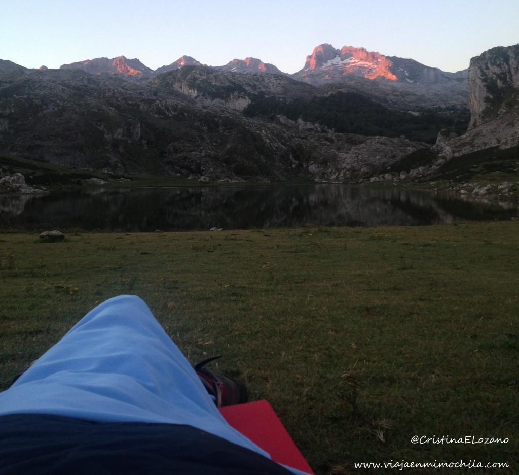 Vivac en los Lagos de Covadonga (Picos de Europa, Asturias)