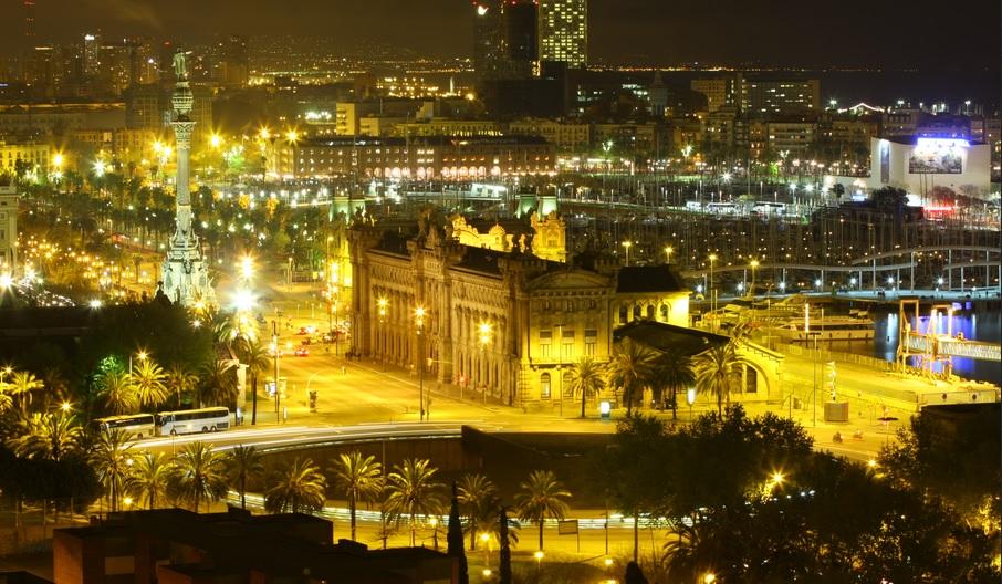 Barcelona de noche - Wikimedia Commons