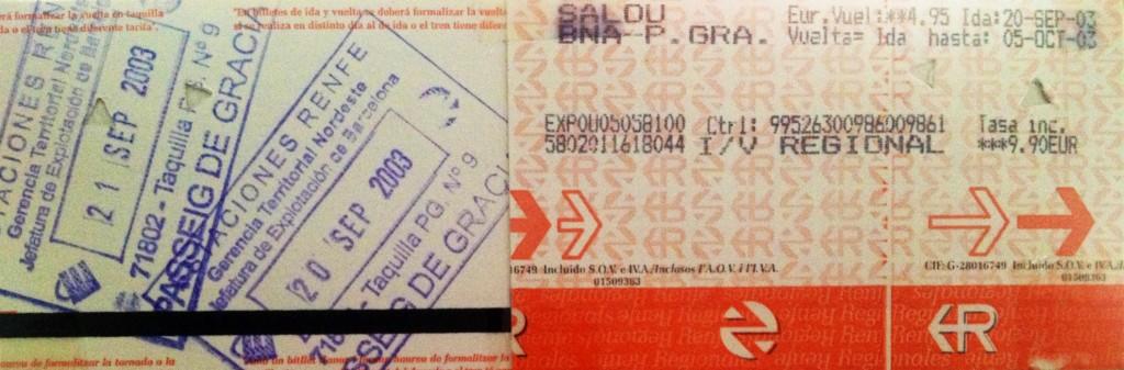 Billetes de tren a Barcelona