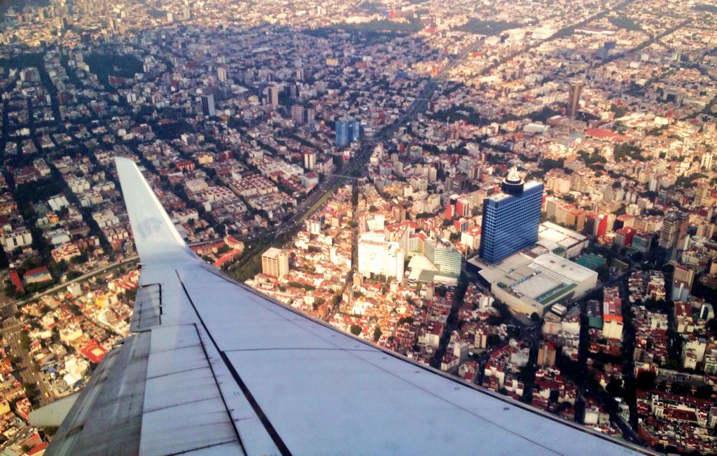 DF desde el avión (México)