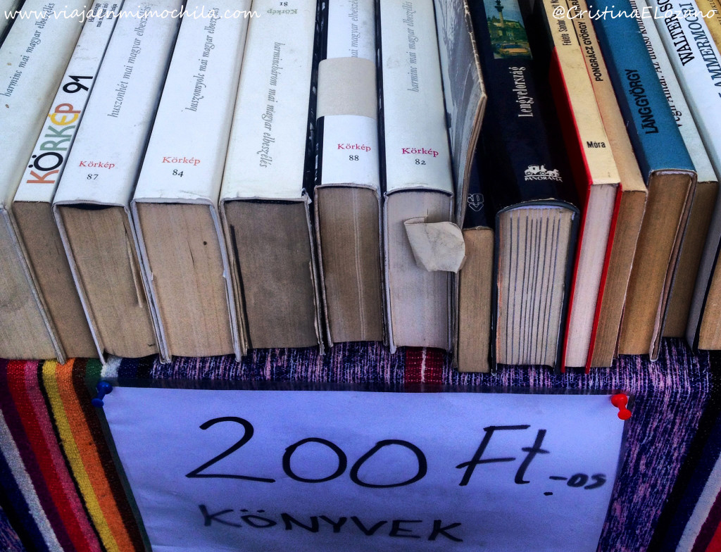 Libros en un mercadillo en Budapest (Hungría)