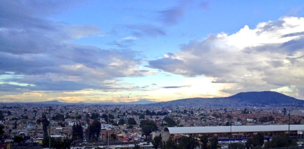 Vista de México DF desde el autobús