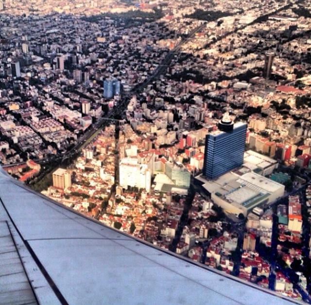 México DF desde el avión (México)