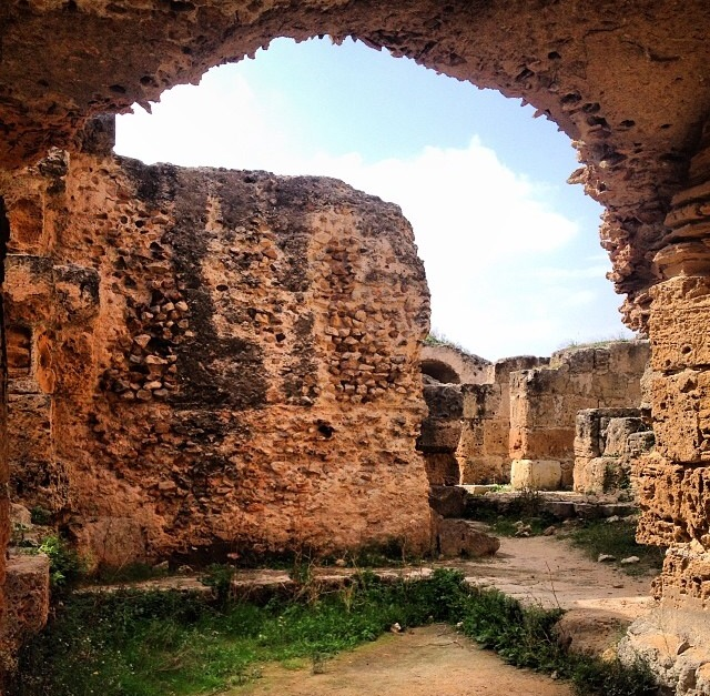 Ruinas de la ciudad cartaginesa de Cartago (Túnez)