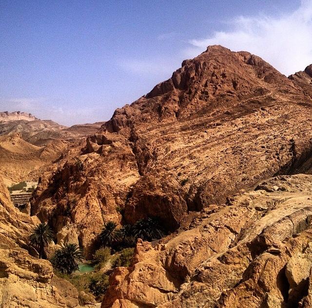 Oasis de Chebika, montañas del Jebel el Negueb (Túnez)