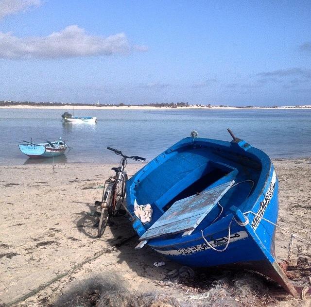 Laguna de la isla de Djerba (Túnez, África)