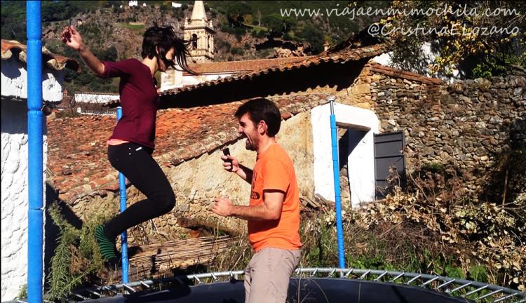 Cama elástica de la Posada de San Marcos (Alájar, Aracena, Huelva)