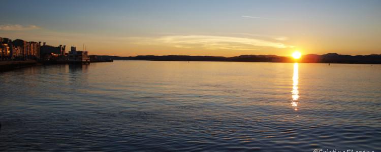 Amanecer en la Bahía de Santander. Cantabria