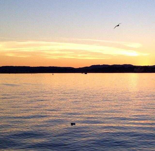 Amanecer en la bahía de Santander (Cantabria)