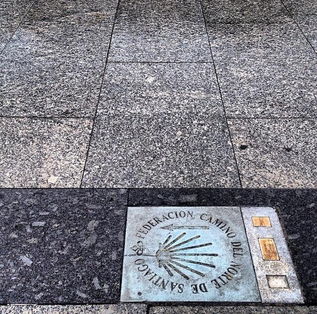 Camino de Santiago a su paso por Santander (Cantabria)