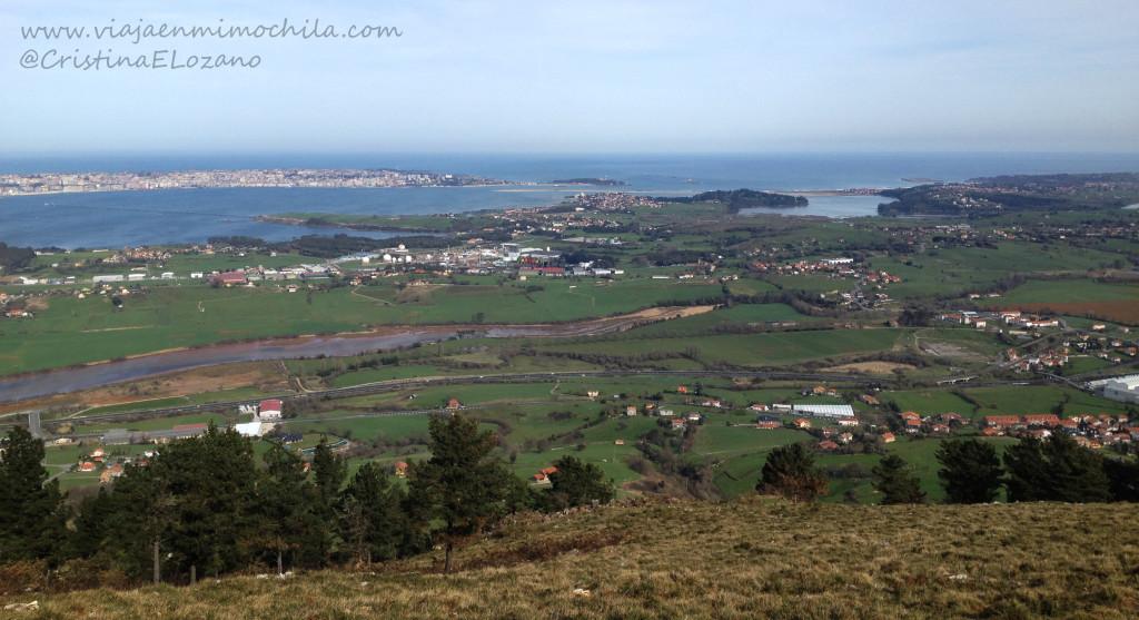 Vistas desde Peña Cabarga (Cantabria)