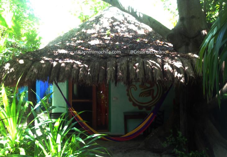 Bungalow de la Posada Ecológica Dos Ceibas (Tulúm. Quintana Roo, México)