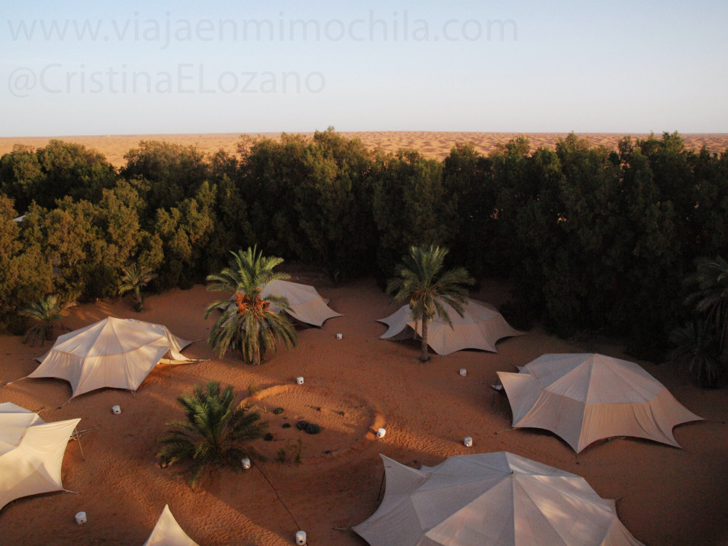 Campamento Yadis Ksar Ghilane. Erg Oriental. Desierto del Sahara (Tunez)