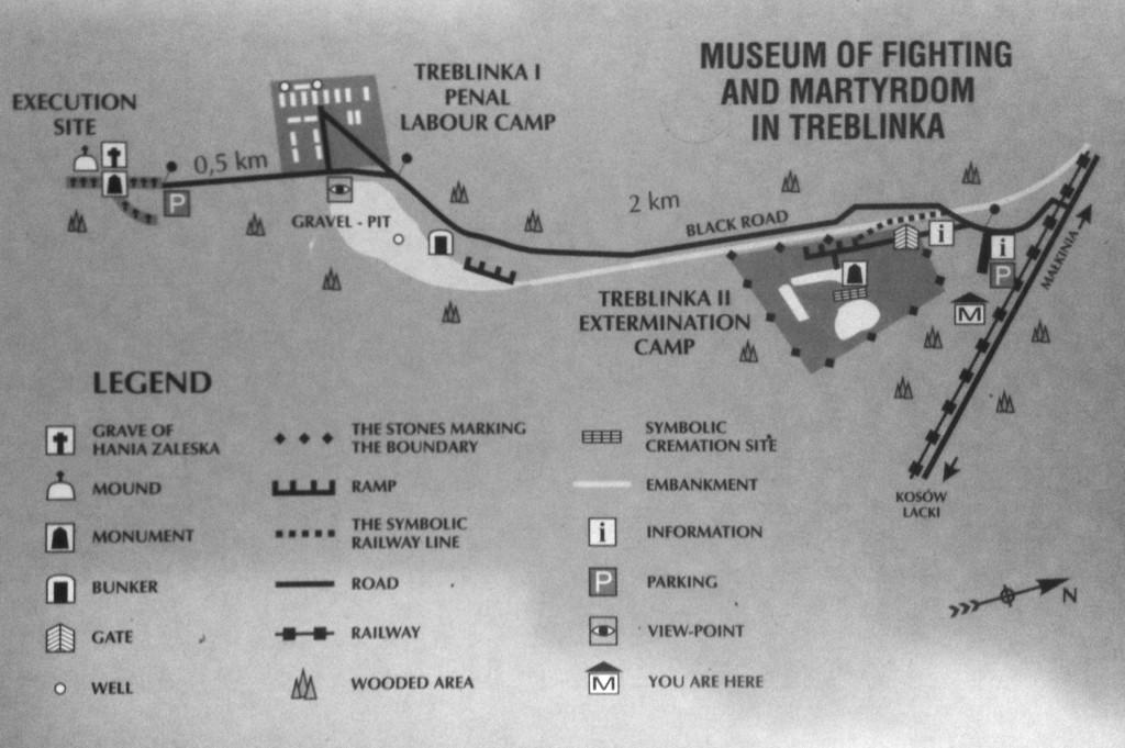 Mapa del Campo de exterminio de Treblinka