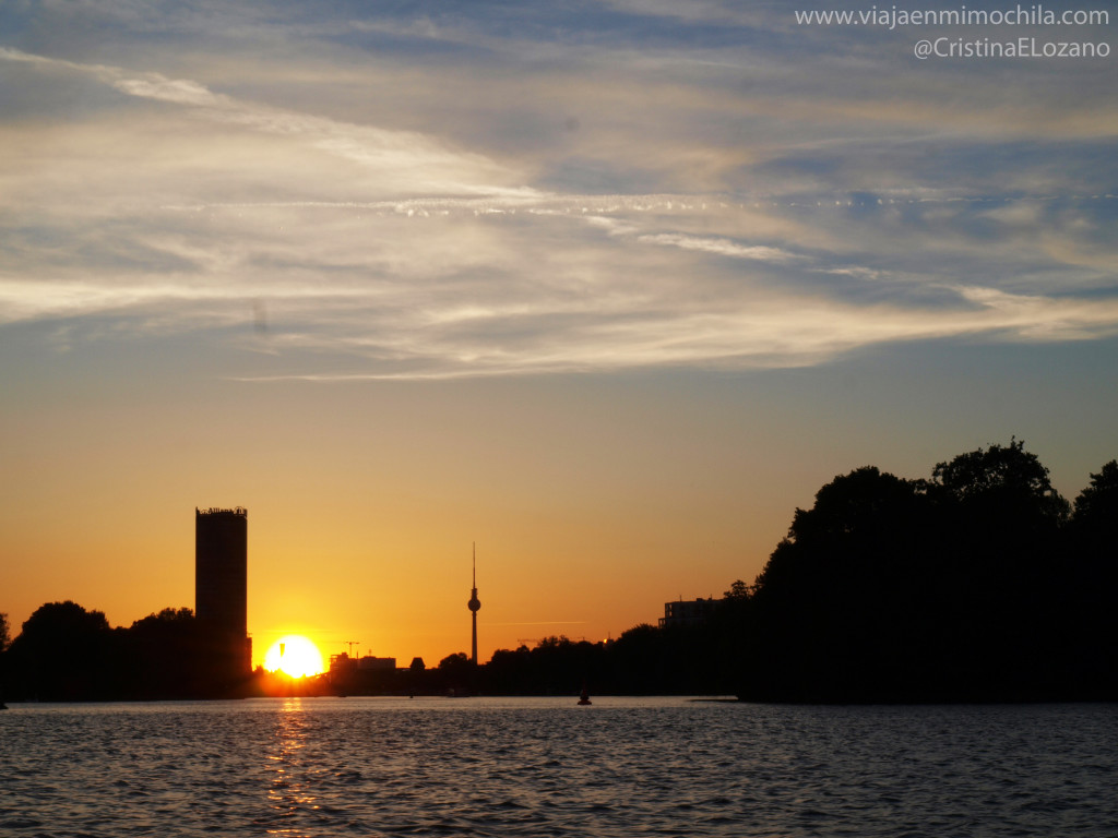 Atardecer sobre el Spree, Berlín