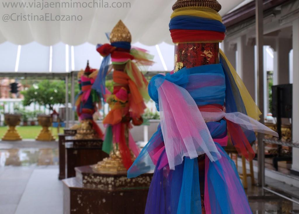 Detalle templo Bangkok. Bangkok (Tailandia)