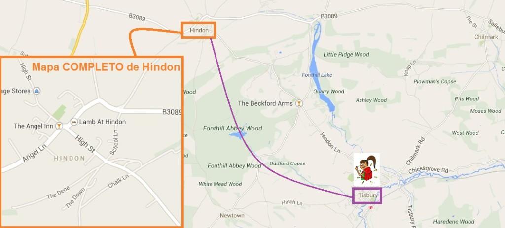 Cómo ir de Tisbury a Hindon (Wilthshare, Inglaterra)