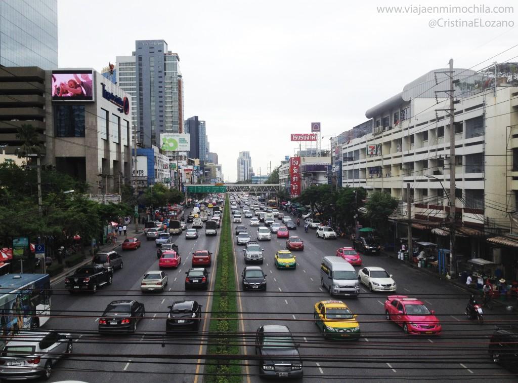Trafico en Bangkok (Tailandia)