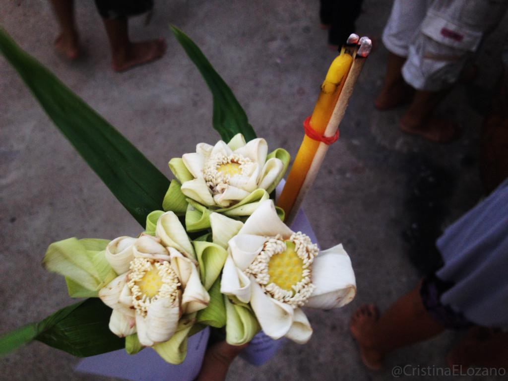 Ofrenda de flores. Bangkok (Tailandia)