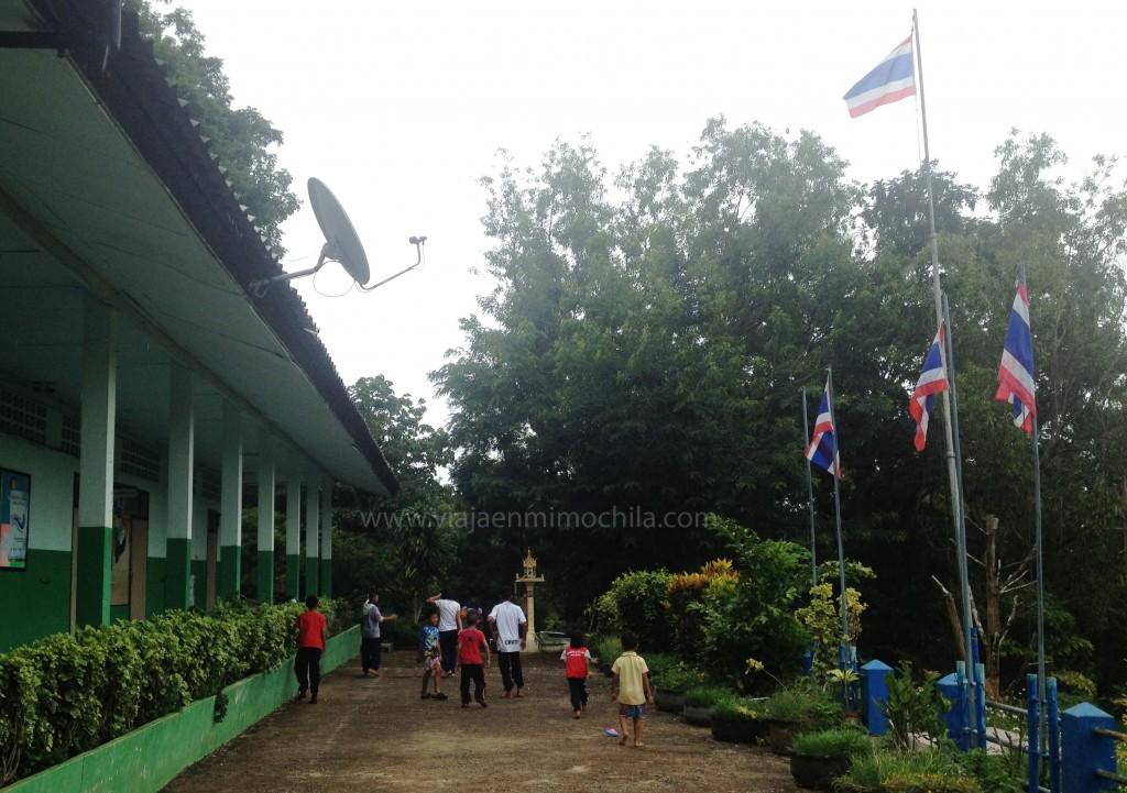 Recreo en un colegio de Tailandia