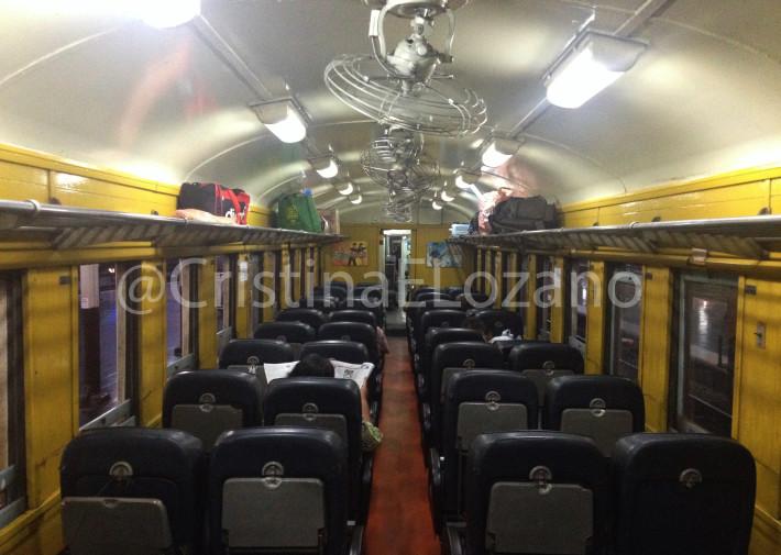 Vagón de asientos en Tailandia