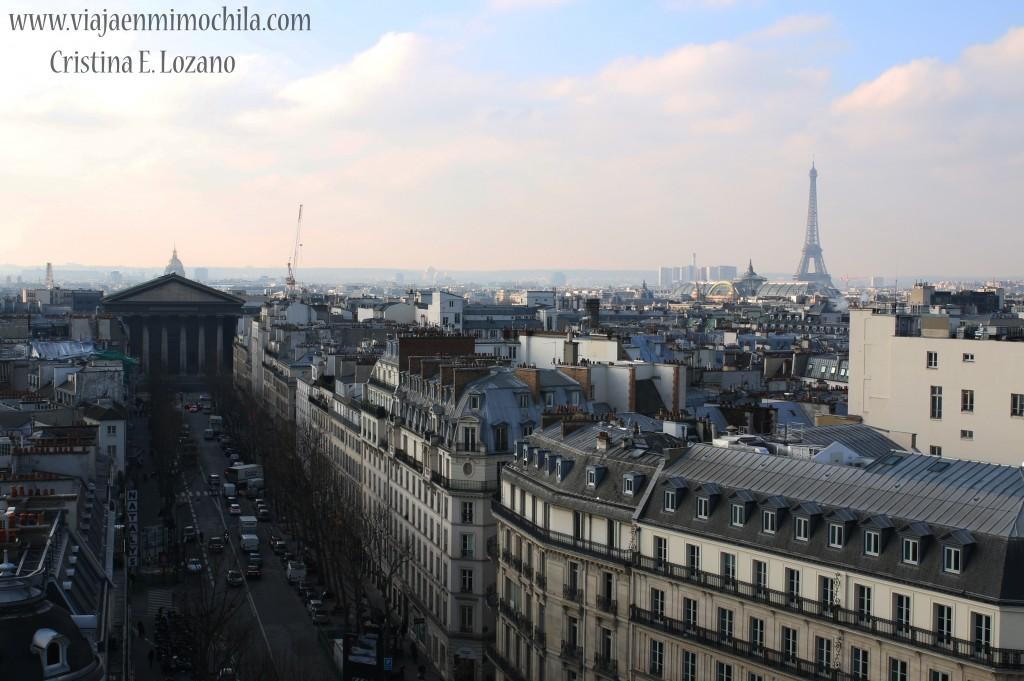 Vista de París desde Terraza Printemps