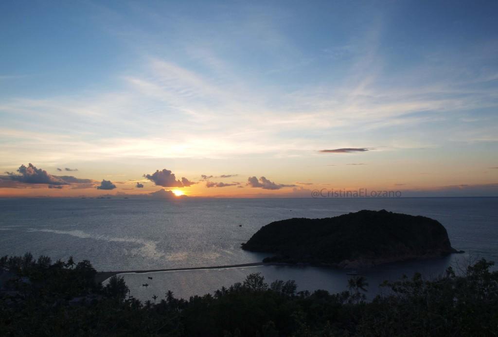 Atardecer en Koh Ma (Koh Phangan, Golfo de Tailandia)