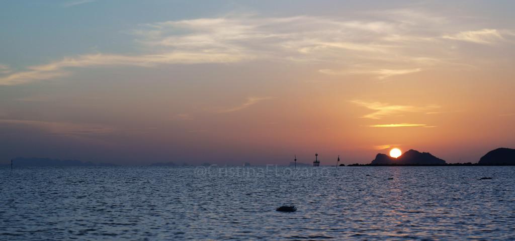 Atardecer en el JP Resort (Koh Phangan, Golfo de Tailandia)