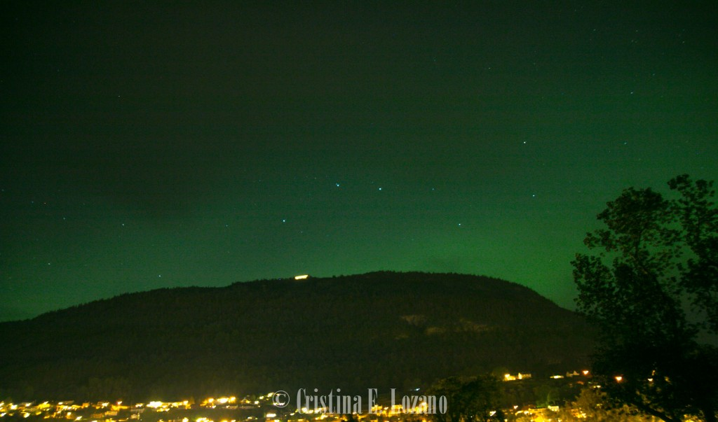 Aurora boreal en Voss (Noruega), 8 de septiembre de 2015