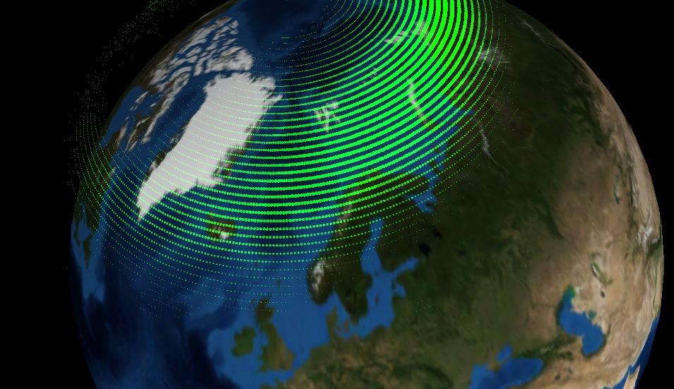 Captura de pantalla de la APP Aurora Forecast