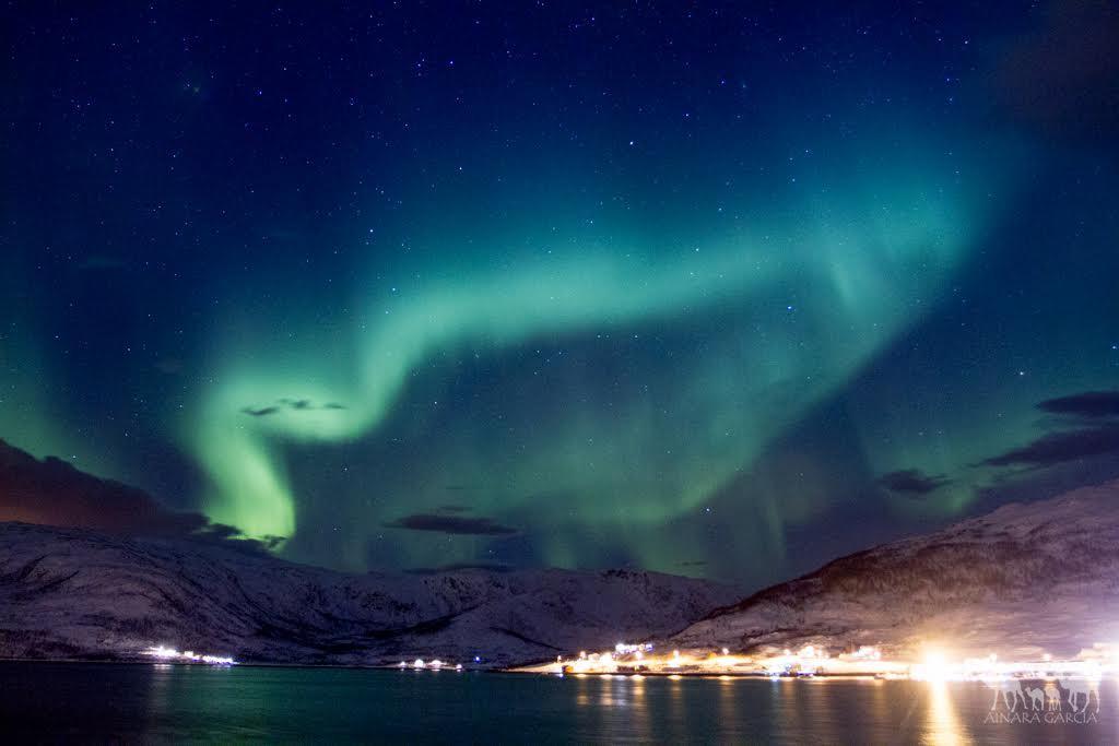 Aurora boreal en Noruega, foto de Ainara Garíca