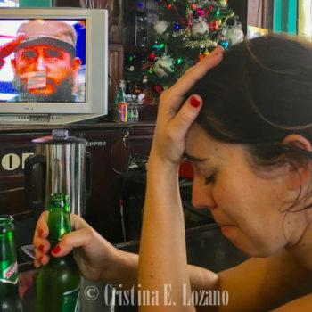 Bar. Día de la muerte de Fidel Castro