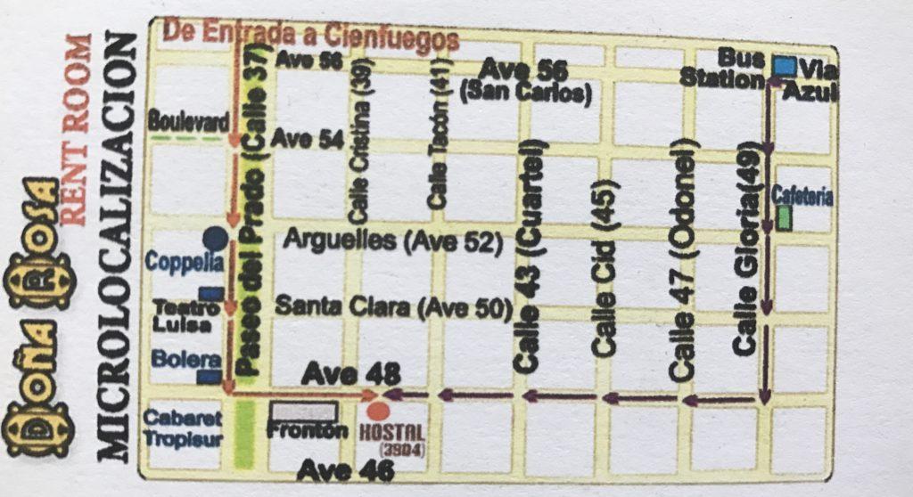 Dormir en casas de Cubanos Cienfuegos Casa Doña Rosa II