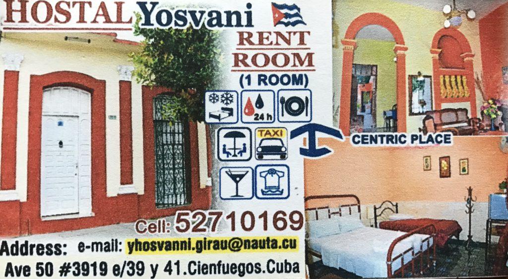 Dormir en casas de Cubanos Cienfuegos Casa Yosvani
