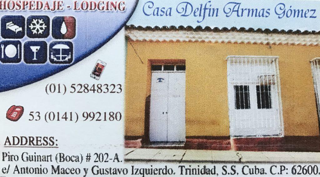Dormir en casas de Cubanos Trinidad Casa Delfín
