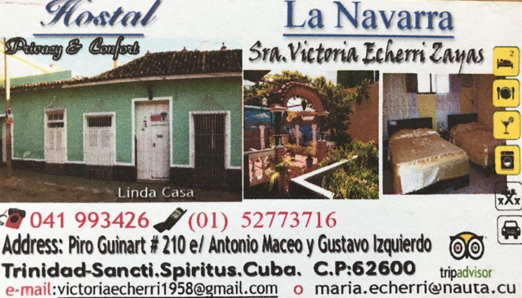 Dormir en casas de Cubanos Trinidad Hostal La Navarra