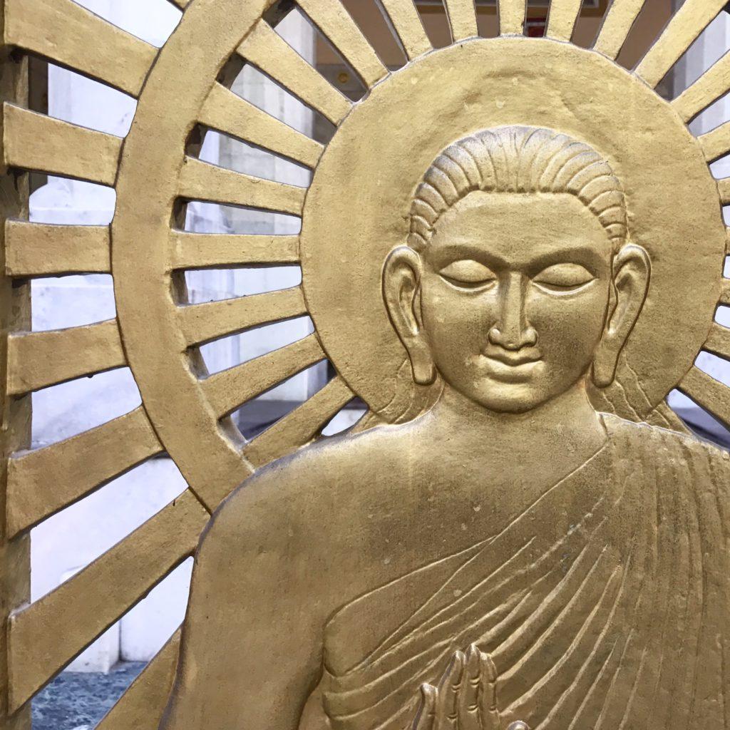 Buda. Templo Budista de Nueva Delhi (India)