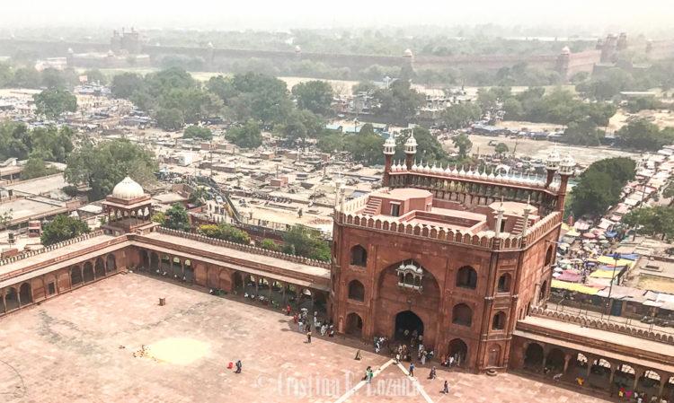 Jama Masjid. Mezquita mas grande de Delhi, India, Asia