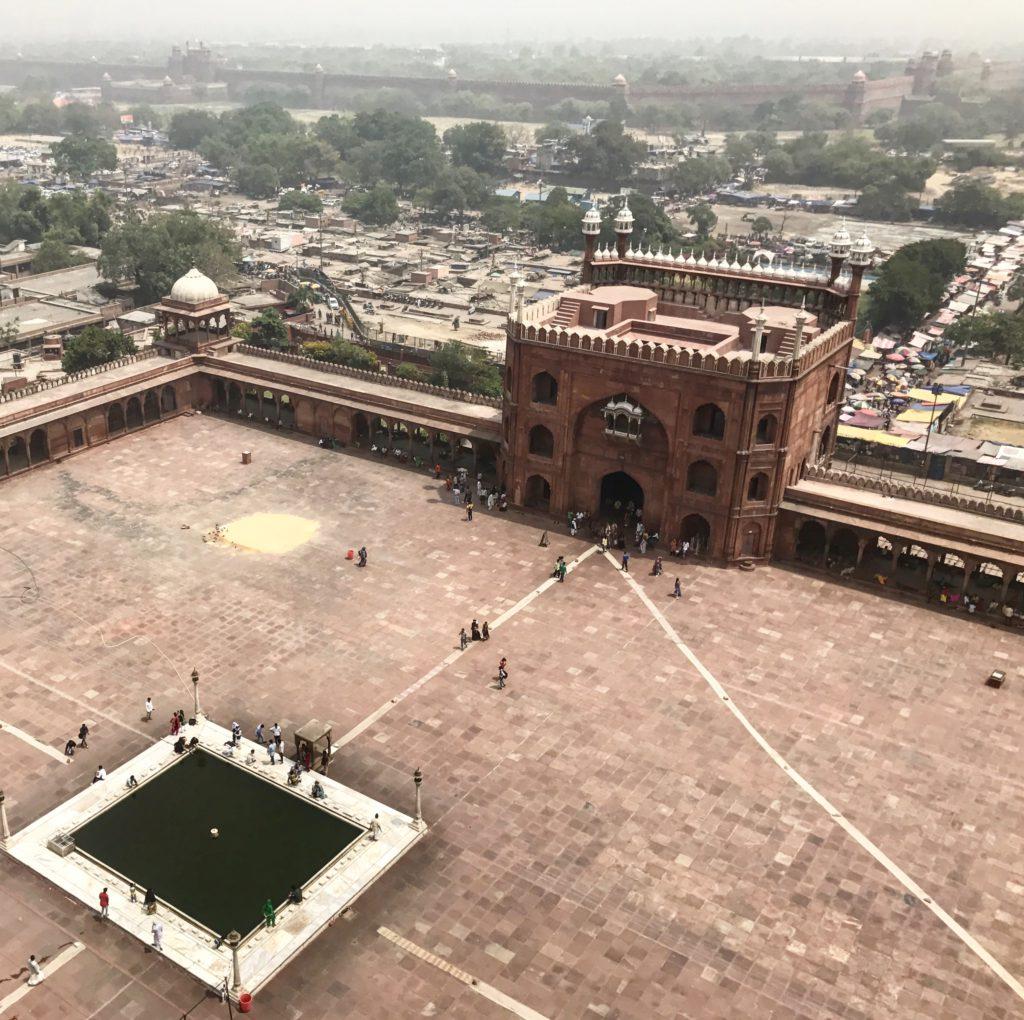 Mirador sobre Delhi. Minarete Mezquita Jama Masjid (India) III