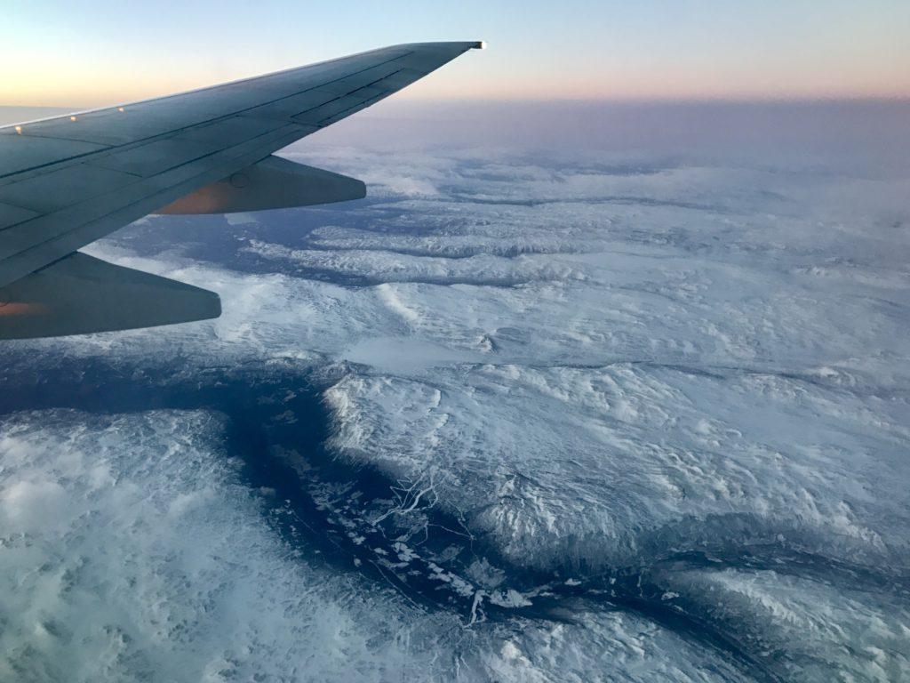 noruega en avión