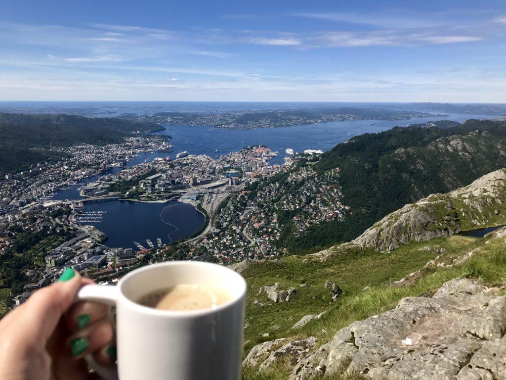 Cafe Ulriken vistas Bergen