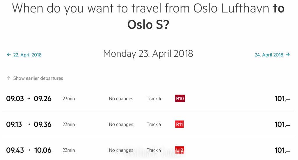 Cristina E. Lozano. Como comprar un billete de tren del aerpouerto del Oslo al centro de la ciudad (Noruega)