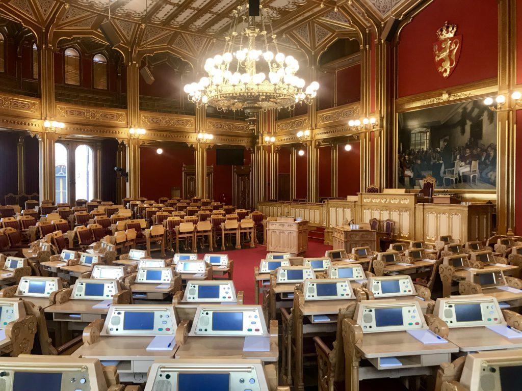 Storting o Parlamento de Noruega (Oslo)