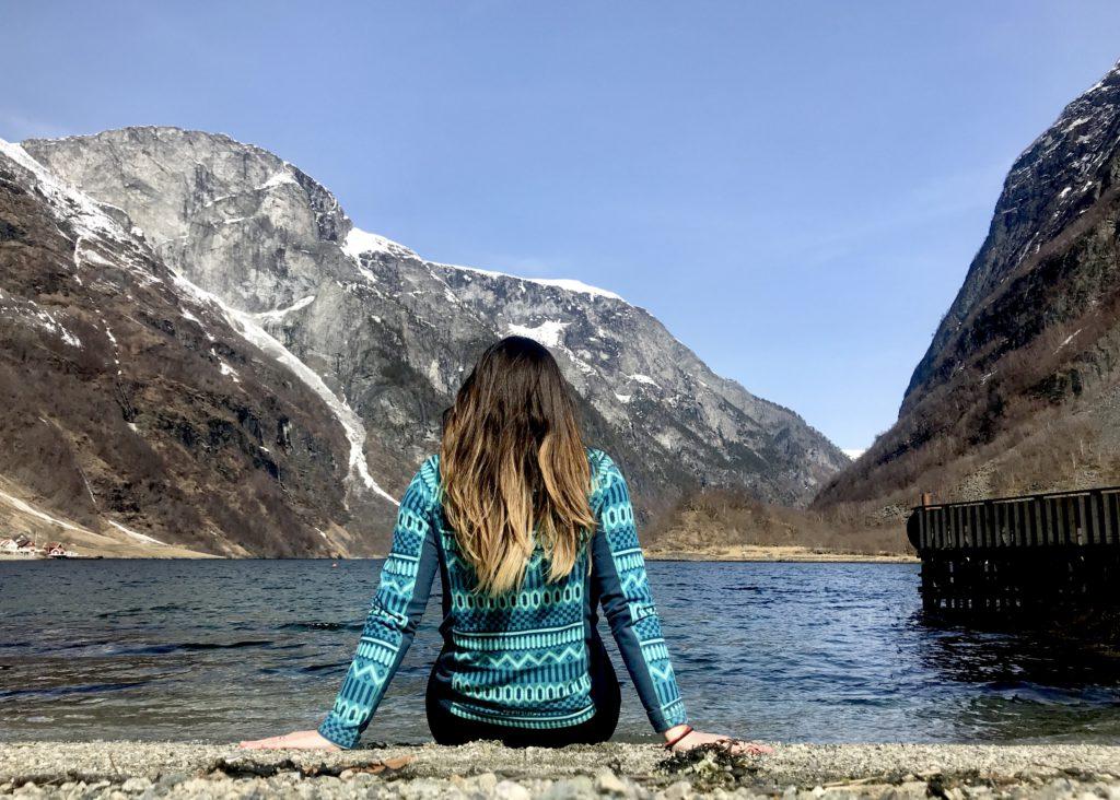 Cristina en el fiordo de los Sueños (Noruega)
