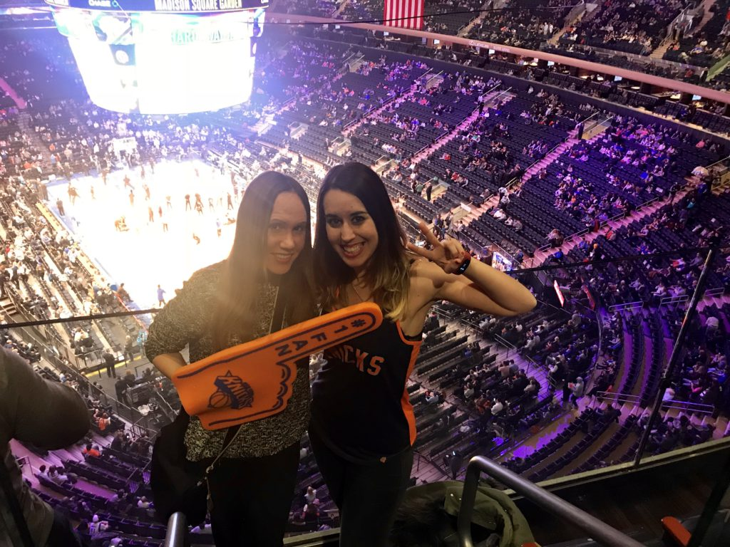 Partido de los Nicks en el Madison Square Garden de Nueva York