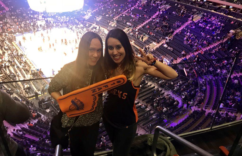 Partido de los Nicks en el Madison Square Garden de Nueva York