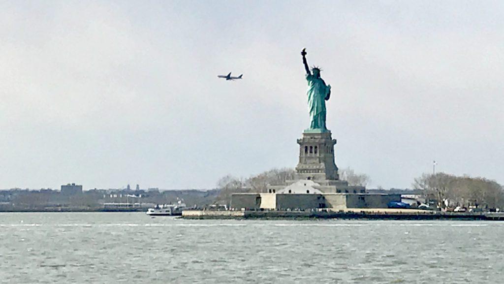 Estatua de la libertad gratis, ferry de stance island, Nueva York