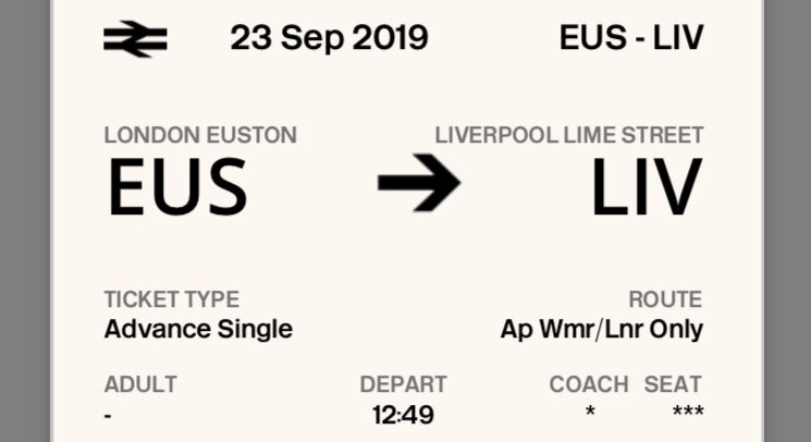 London - Liverpool. Billetes de tren baratos a Liverpool (Inglaterra)