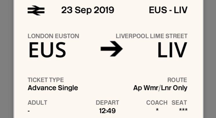 London - Liverpool. Billetes de tren baratos a Liverpool (Inglaterra)